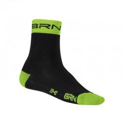 BRN SOCKS BLACK/FLUO GREEN