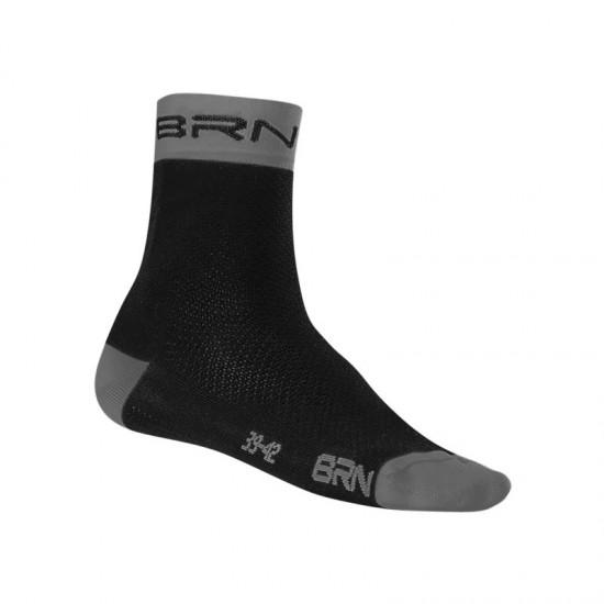 BRN SOCKS BLACK/GREY